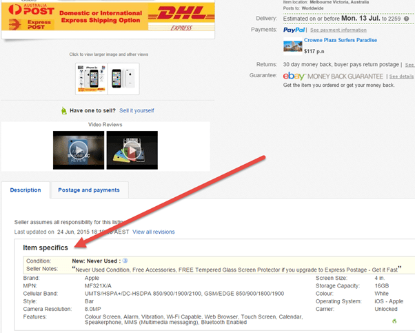 ebay listing tips