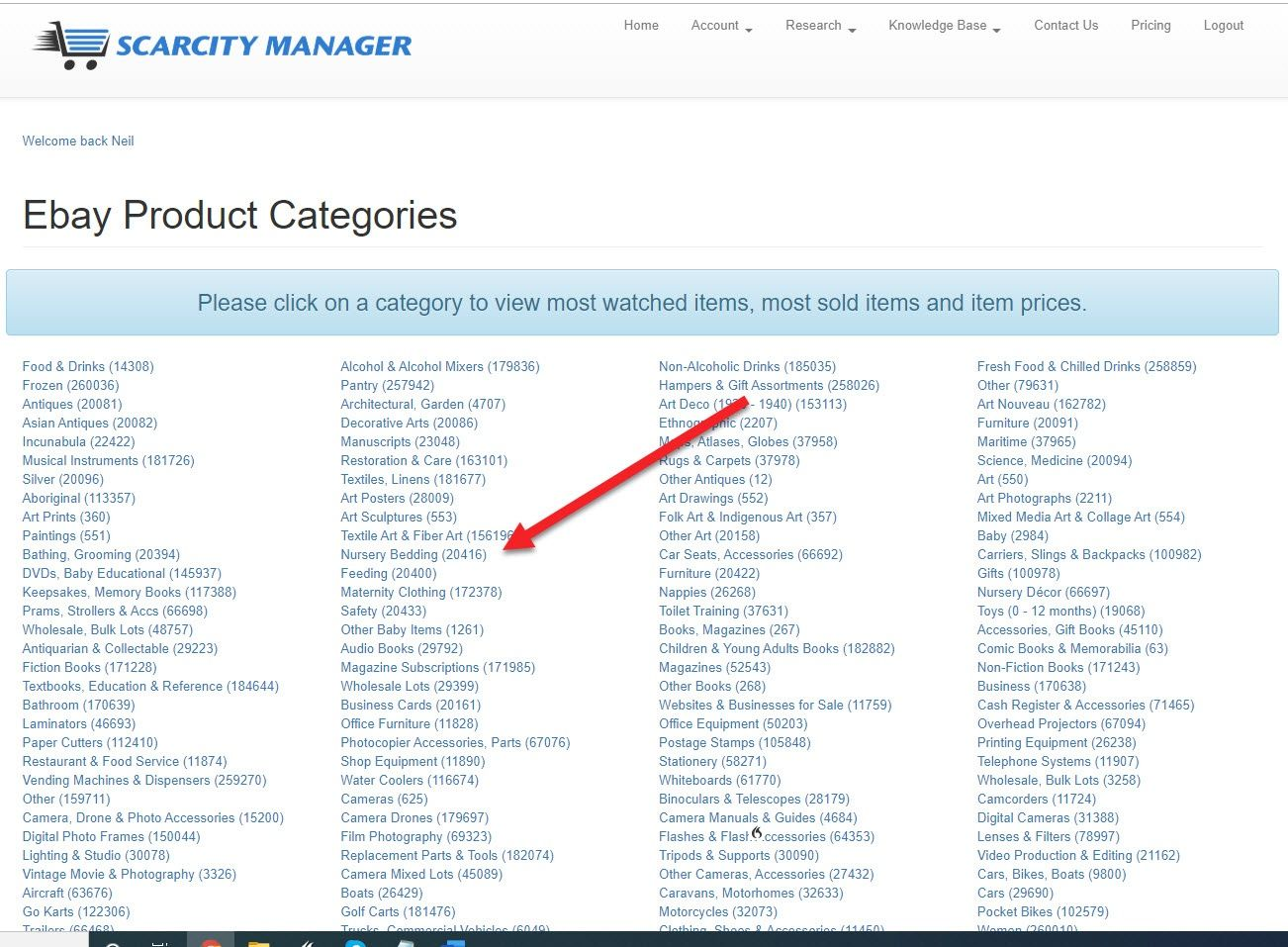 eBay Product Categories 2