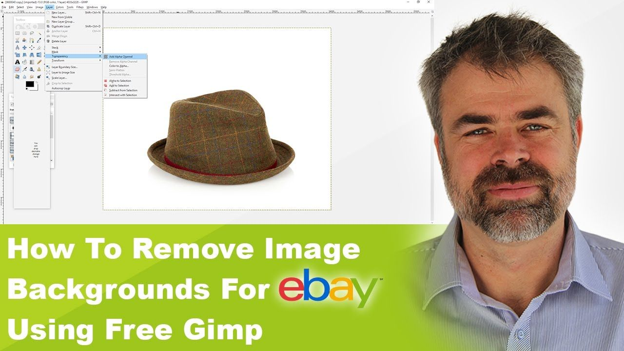 How To Remove Product Image Backgrounds For eBay Using Free Software Called Gimp