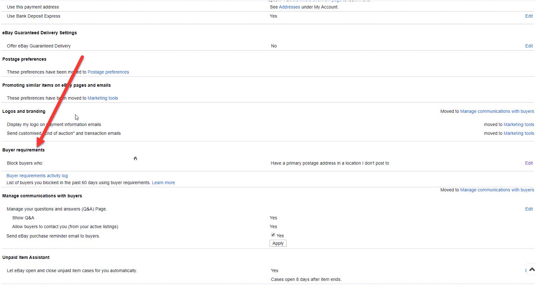 How to block eBay Buyer