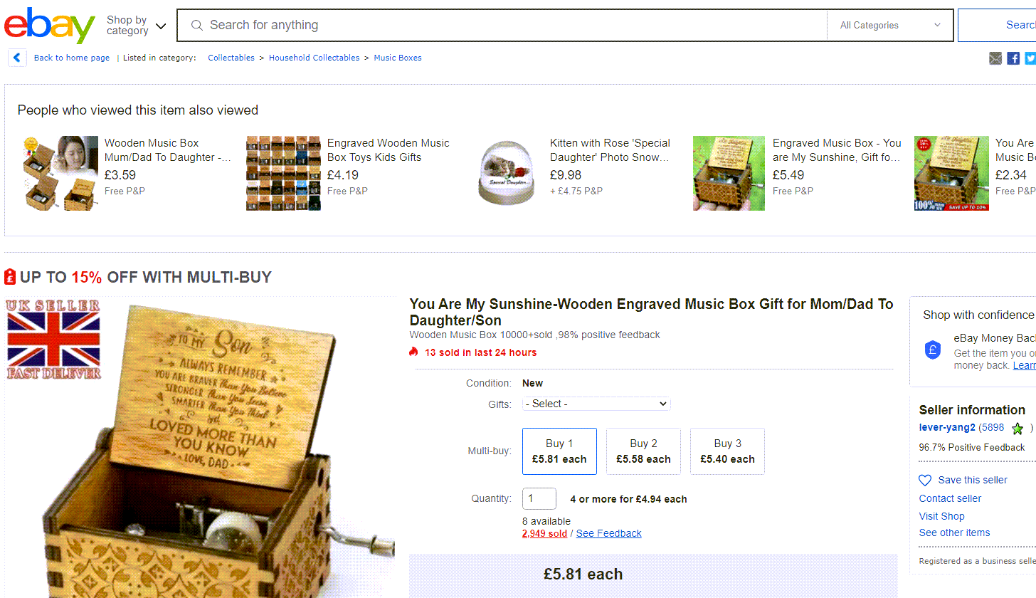 how to find best selling items on ebay uk
